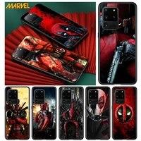 deadpool hero marvel for samsung s20 fe ultra plus a91 a81 a71 a51 a41 a31 a21 a11 a72 a52 a42 a22 soft black phone case