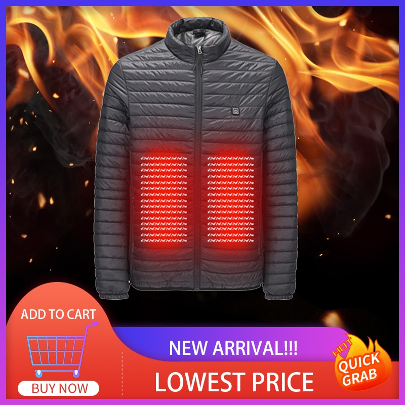 Electric Heated Vest Jackets USB Electric Heating Hooded Cotton Coat Hiking Winter Warmer Outdoor Equipment S-5XL Asian Size
