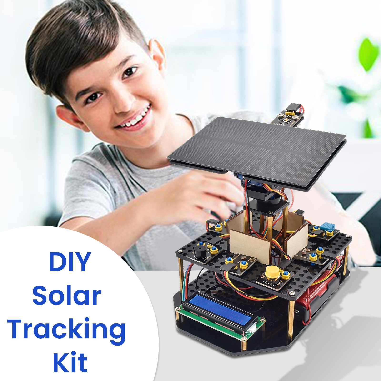 2021 New ! Keyestudio For Arduino Smart Solar Tracking Kit Can Use For Mobile Phone Charging Starter Project DIY STEM Toy