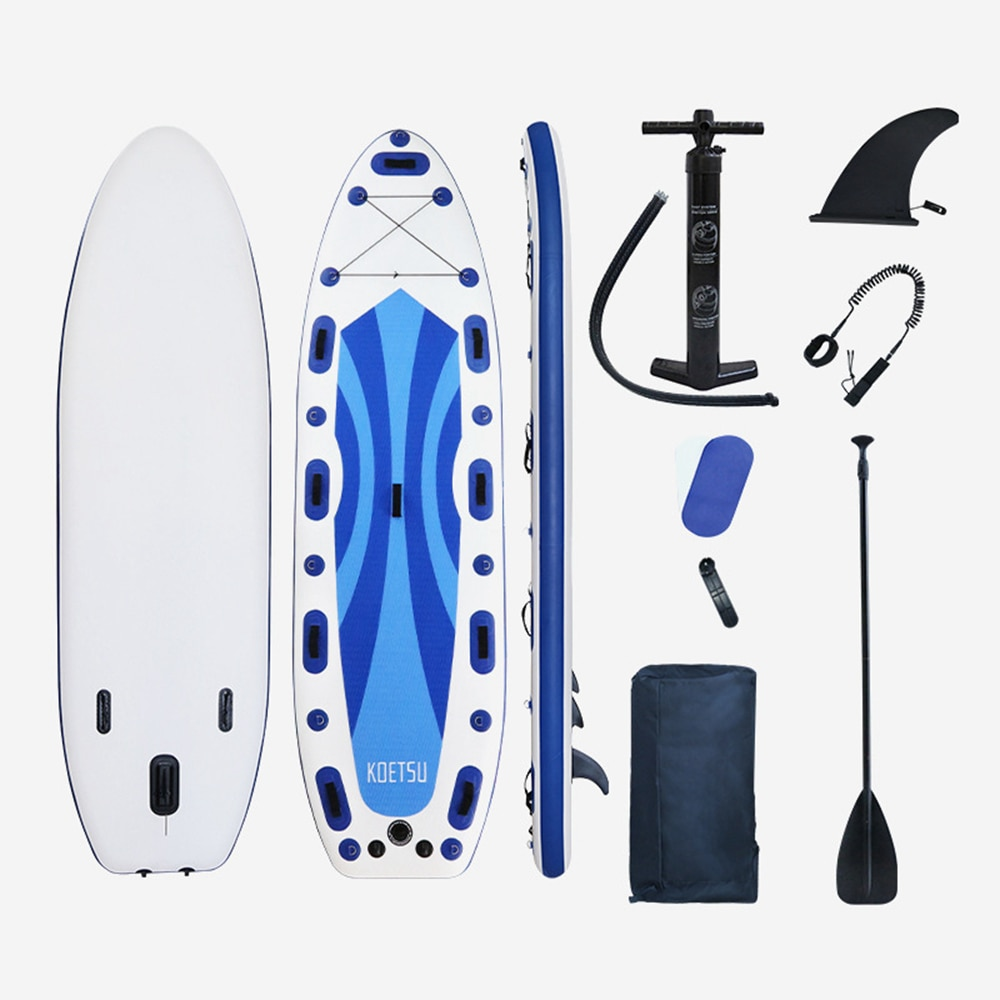 Surfing Inflatable Stand Up Paddle Board Sup-Board Surfboard Kayak Surf Set With Backpack Leash Pump Fins 450 350*100*20 c