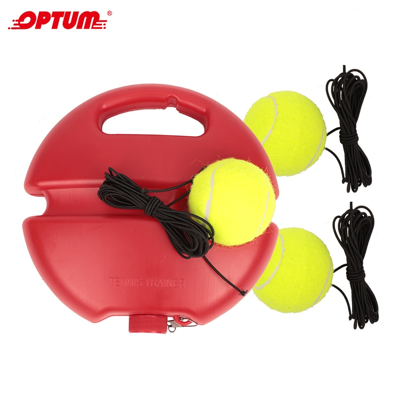 Heavy Duty Tennis Training Aids Base With Elastic Rope Ball Practice Self-Duty Rebound Tennis Trainer Partner Sparring Device