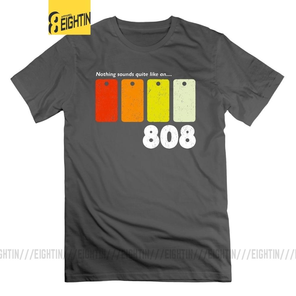 No hay nada que parezca una camiseta de 808 para hombre 100% de algodón camisetas de manga corta de cuello redondo Camiseta creativa de talla grande