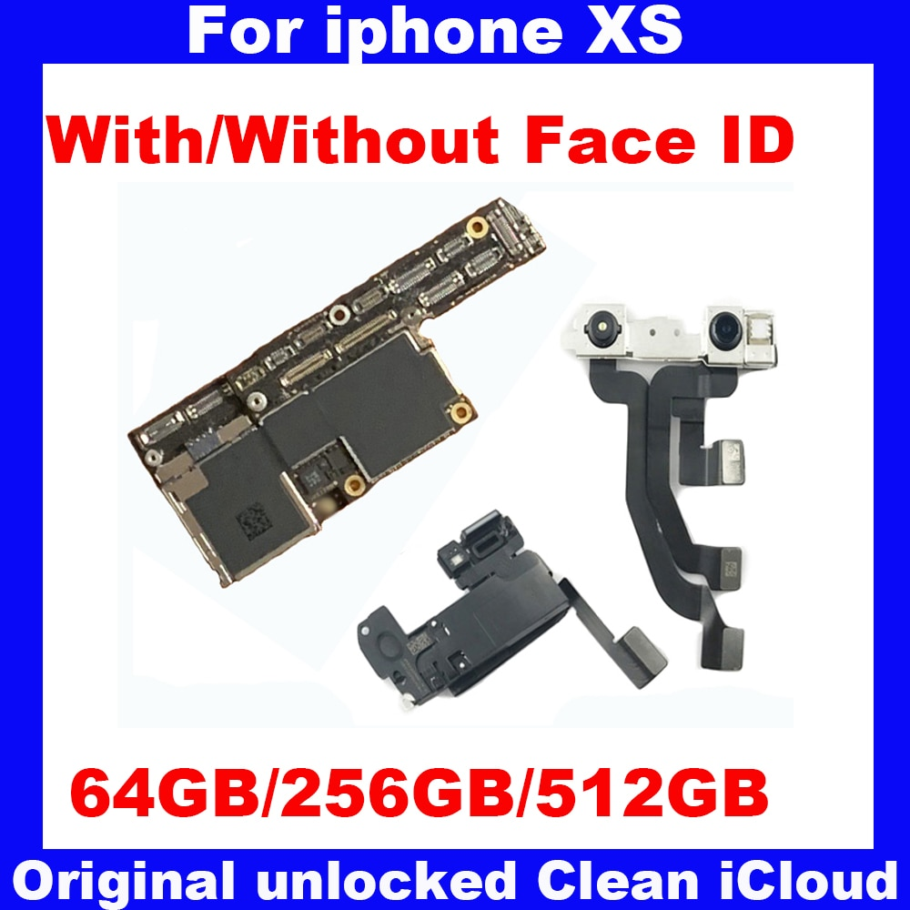 Promo Original Unlocked Motherboard For iphone X S XS 64GB 256GB 512GB IOS system logic board 100% Tested Mainboard With / NO Face ID