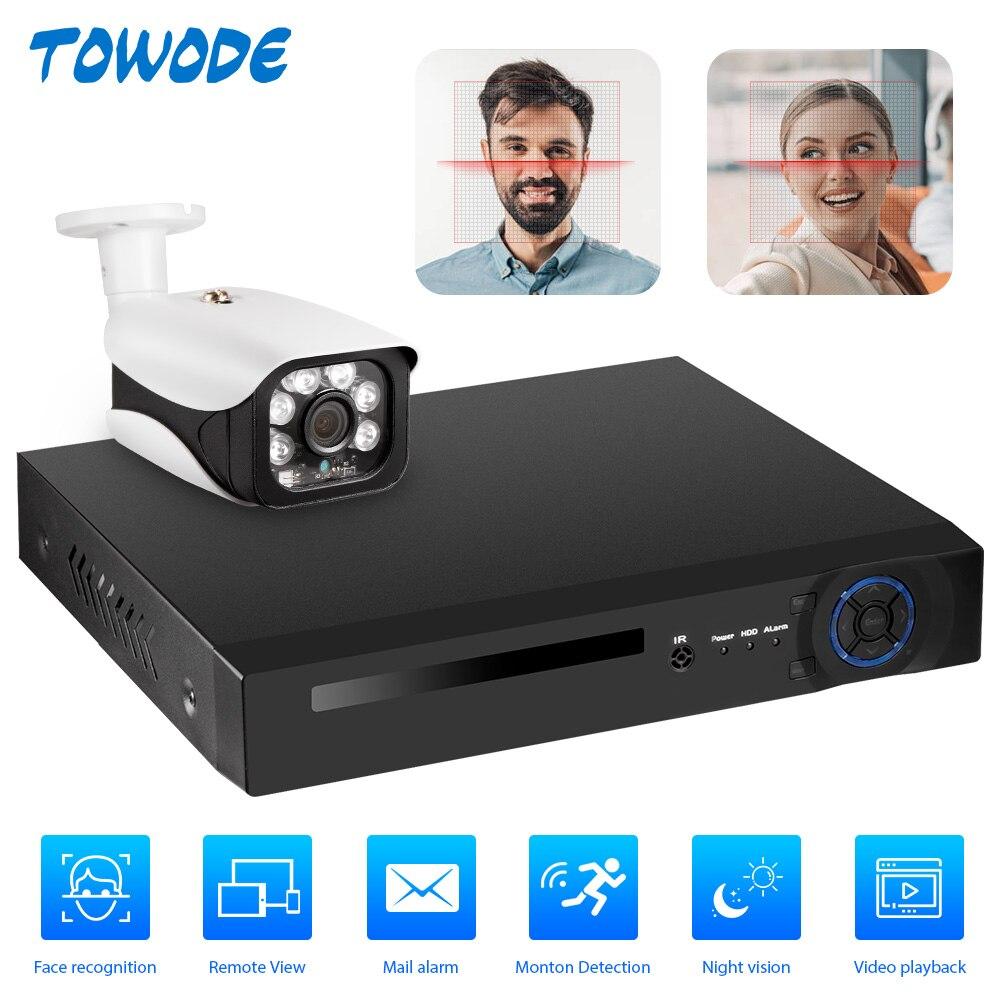 8CH 5.0MP inalámbrico NVR POE sistema de cámaras de seguridad al aire libre IR-CUT vídeo CCTV videograbadora Kit de grabación facial