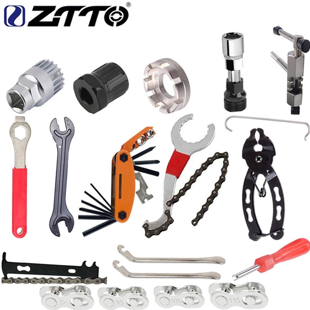 ZTTO Bike repair tool kit flywheel remover socket bottom bracket removing socket chain cutter crank removing tools Bicycle parts
