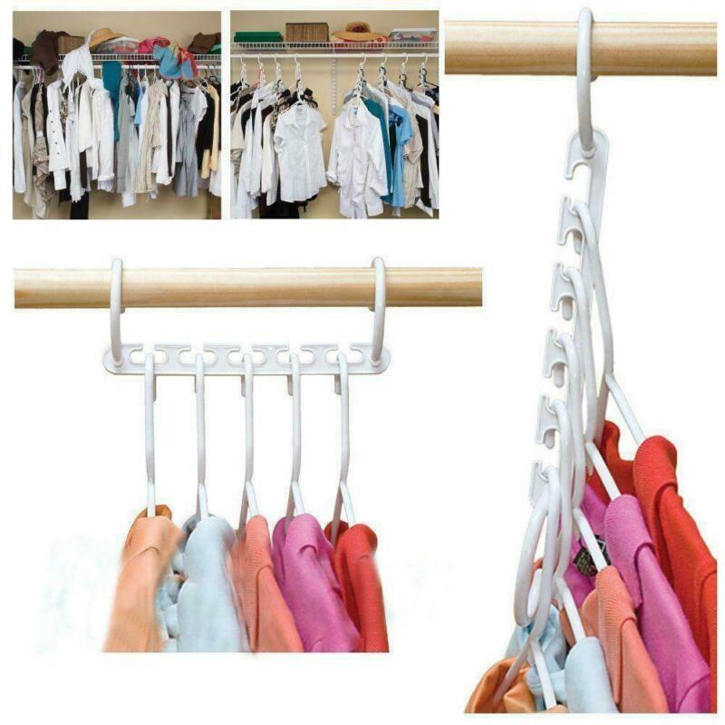 Perchero de 8 Uds para ropa Wonder Magic, gancho para ropa, organizador plegable
