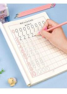 Pen control training children's paint number outline student mathematics practice copybook 2pcs