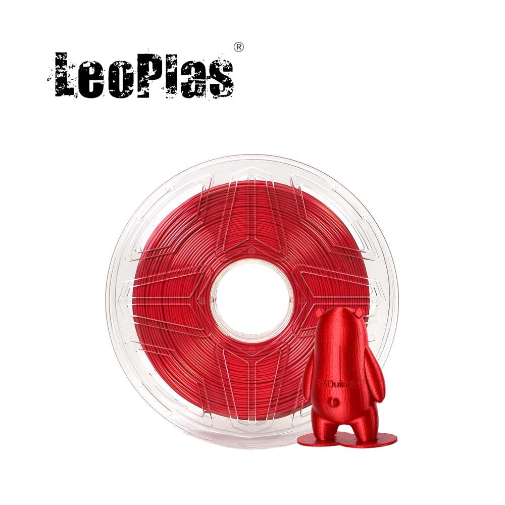 LeoPlas-خيوط الحرير PLA للطابعة FDM ثلاثية الأبعاد ، 1 كجم ، 1.75 مللي متر ، مادة بلاستيكية لامعة