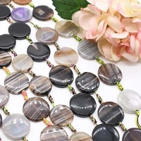 2strandslot round black and white grey agate loose natural stone beads for woman diy necklace bracelets jewelry making strand