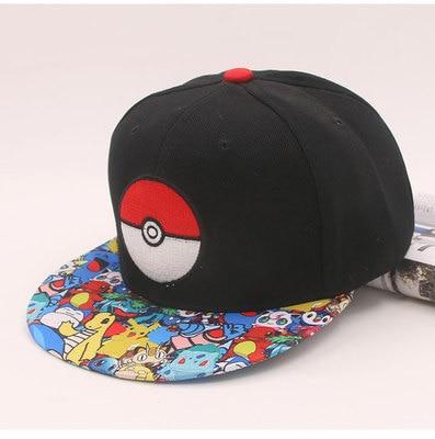 Anime Pokemon Go hat Ash Ketchum pokemon hat Pikachu Poke Ball cosplay Unisex Adjustable Baseball Cap Hip Hop Cap Accessories