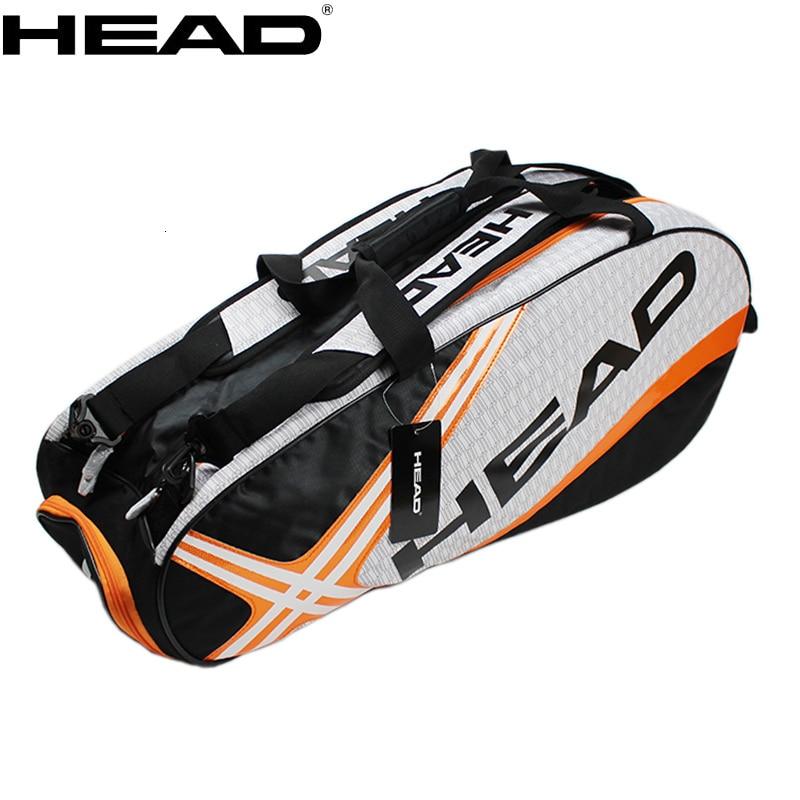 Djokovic Same Type HEAD Tennis Bag Men Women Training Handbag Badminton Squash Tennis Racket Racquet Backpack Separated Shoe Bag head сумка для 9 ракеток head djokovic 9r supercombi
