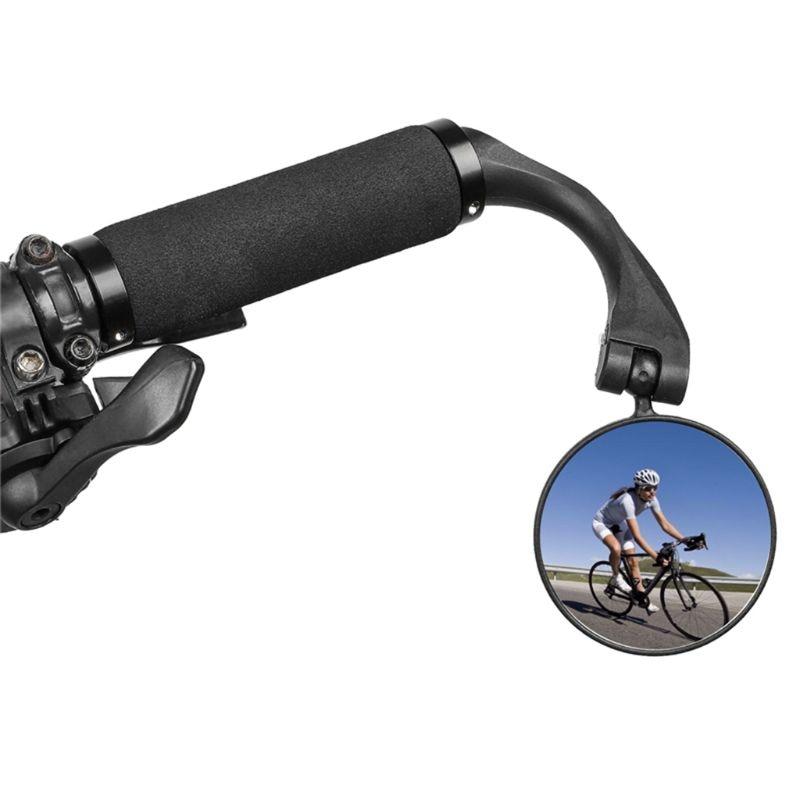 QILEJVS espejo retrovisor plegable de bicicleta de carretera de montaña espejos retrovisores convexos