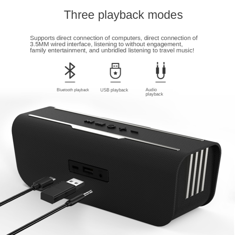 Bluetooth Speaker Small Large Volume Subwoofer High Sound Quality Outdoor Portable Wireless Mini Stereo 3D Surround Heavy Bass enlarge