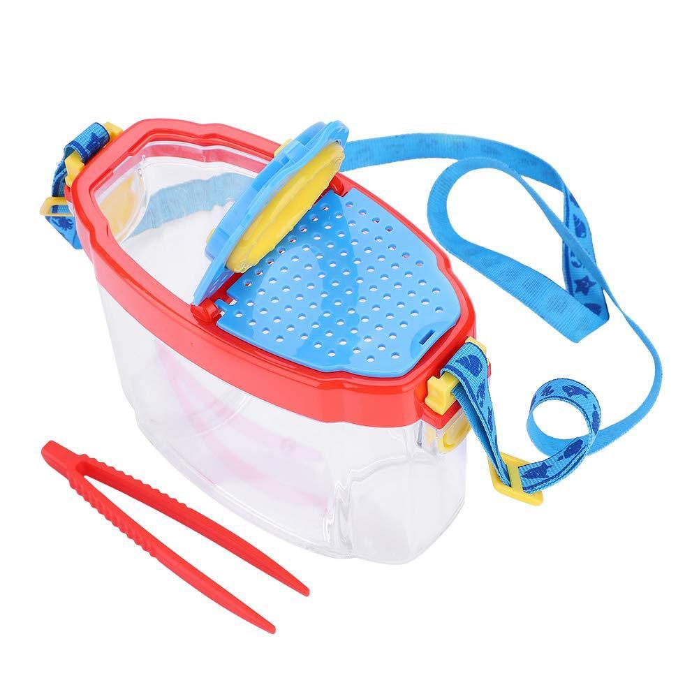 Lupa HD 4.5X Visor de insectos portátil con pinzas niños juguete de observación araña juguete educativo