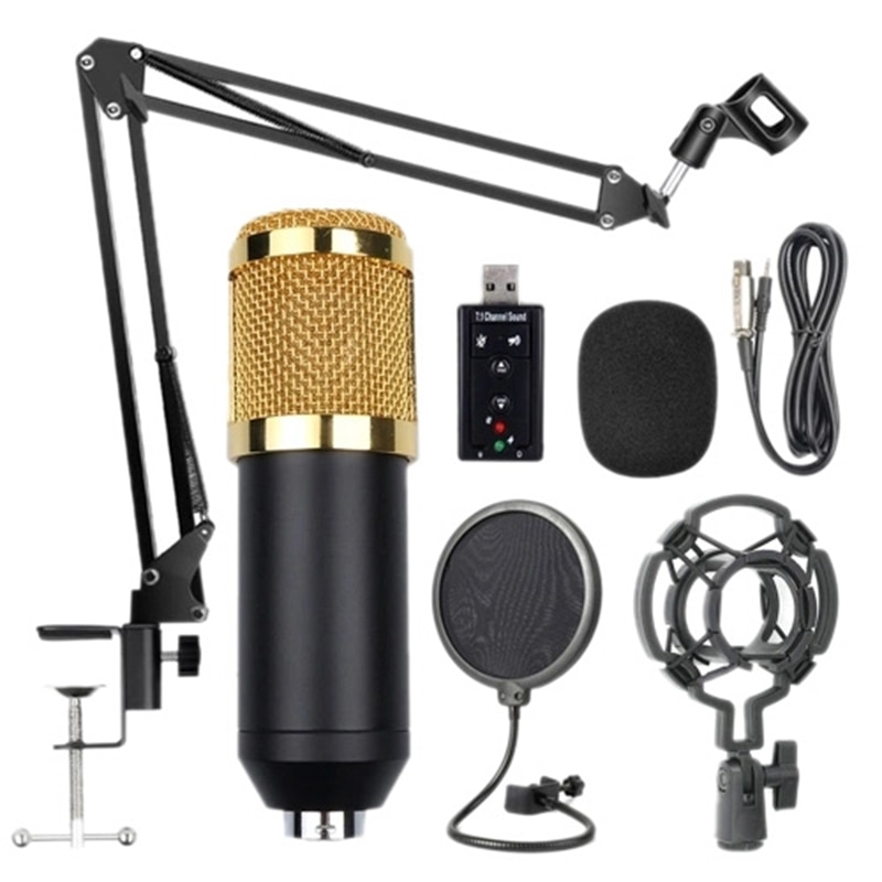Promoción -- Bm800 suspensión profesional micrófono Kit estudio transmisión en directo grabación condensador micrófono Set