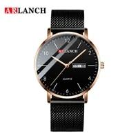 fashion man watch business ultra thin calendar wrist watch men casual waterproof simple steel mesh clock male relogio masculino