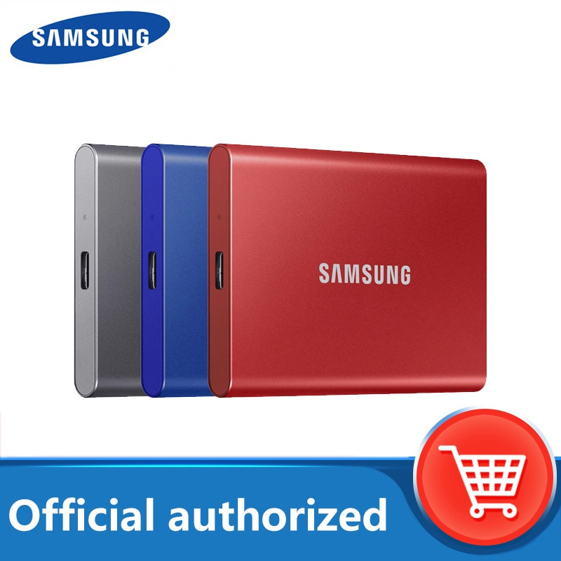 samsung T7 portable ssd 1TB 500GB 2TB External Solid State Drives disco duro externo Type-C USB 3.2 compatible for laptop