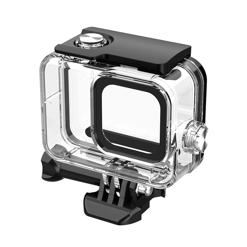 Waterproof Housing Case Compatible with Camera 8 Black, 60M Underwater Protective Diving Case Shell with Quick Release Mount