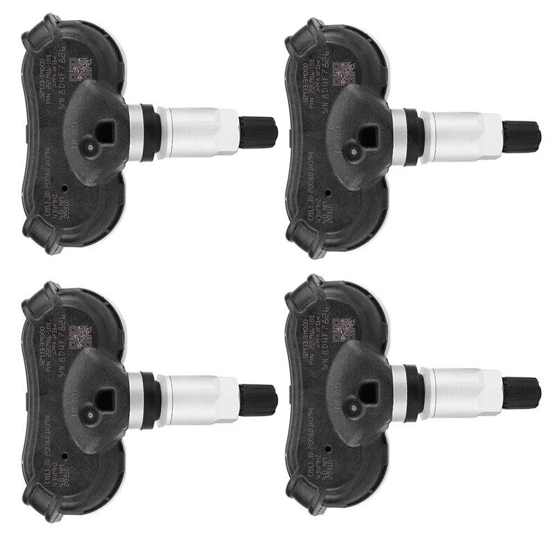 4Pcs Car TPMS Tire Pressure Monitoring Sensor for IX35 2010-2012 52933-3M000 (Black + Silver)