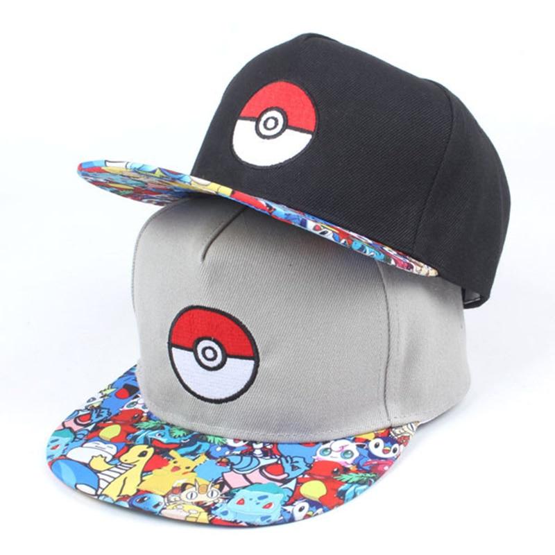 Nueva moda Unisex gorra de béisbol de dibujos animados sombrero de Pokémon hombres mujeres Hip Hop deportes juego padre SnapBack Gorras CP0458
