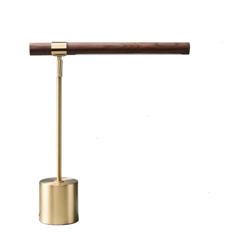 Lámpara De Mesa De cobre De grano De madera lámpara De estudio nórdico simplicidad lámpara De escritorio moderna lámpara De escritorio lámpara De Mesa barata