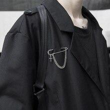 2020 vente Kpop déclaration rétro Punk grandes broches croix broches unisexe Couple chaîne Design costume accessoire pour femmes hommes décoration