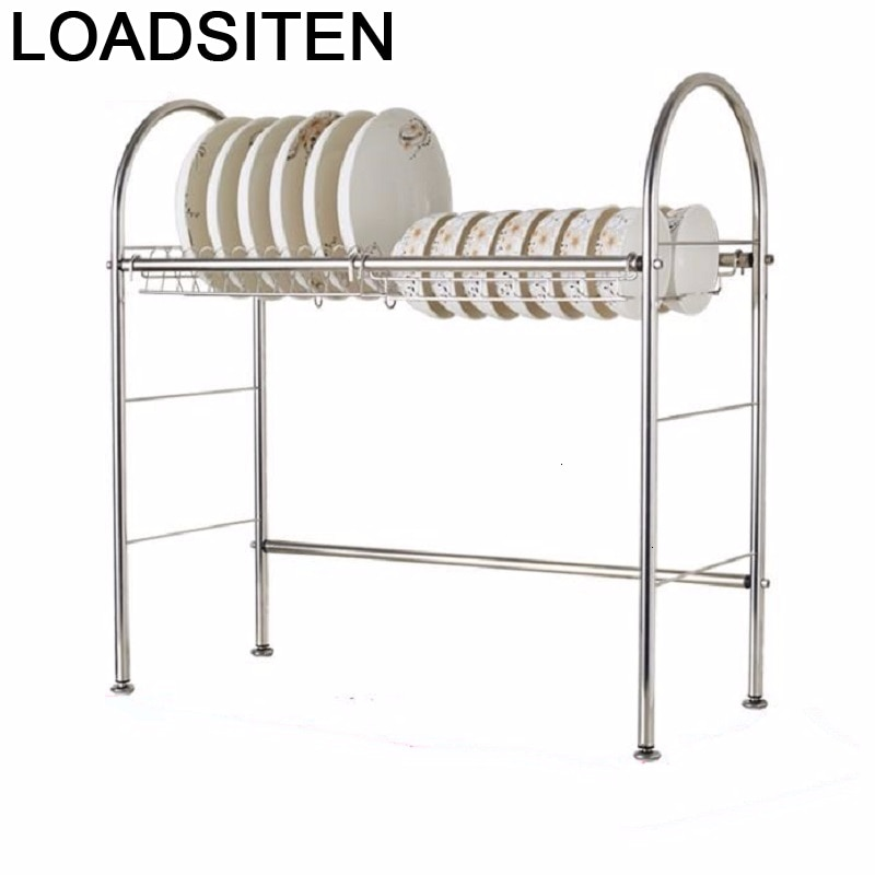 Malzemeleri Rangement Fridge Dish Drying Rack Stainless Steel Organizador Cuisine Cocina Mutfak Cozinha Kitchen Organizer