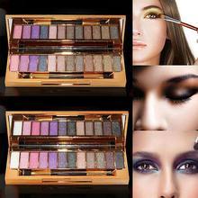 Women Cosmetic Pro Makeup 12 Colors Smoky Natu ral Eye Shadow Powder Palette Set Perfect for professional salon wedding, parties
