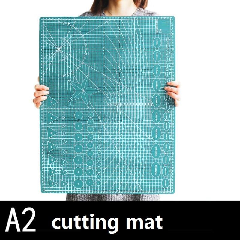 Tapete de corte de PVC, placa base para corte, 60x45cm, A2, cortador para esculpir arte, base de Papel Verde Negro