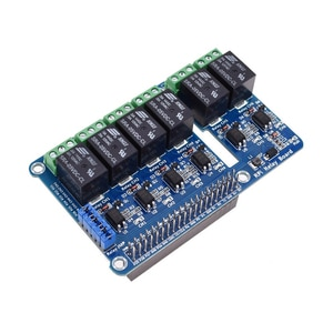6 Channel RPi Relay Control Panel Module Expansion Board for Raspberry Pi 3 2 A+ B+ 2B 3B