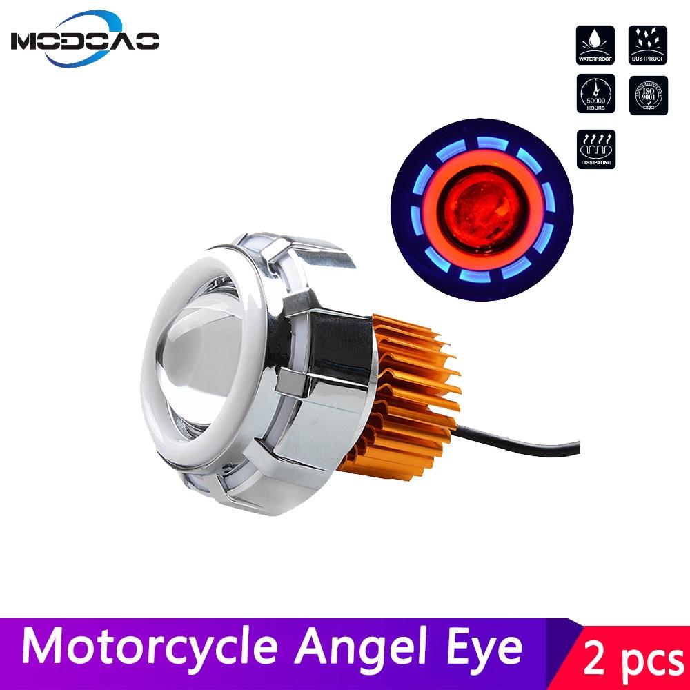 Motocykl anioł oczu Devil Eyes efekt aureoli LED reflektor reflektor motocyklowy Mini projektor DC12V-80V 6000K biały DRL