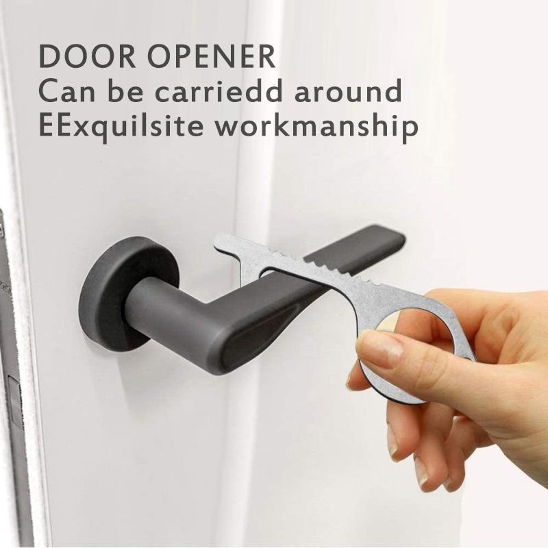 1 Uds. Llavero hecho a mano para abrir la puerta sin tocar el mango de la puerta artefacto llavero evitar tocar la hebilla de la llave limpia Dropshipping