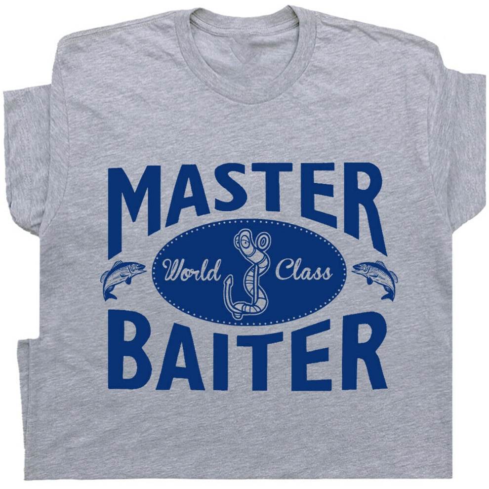 Maestro acosador T camisa pesca ofensiva sucia hombres diciendo grosero sexo lema de alta calidad camiseta