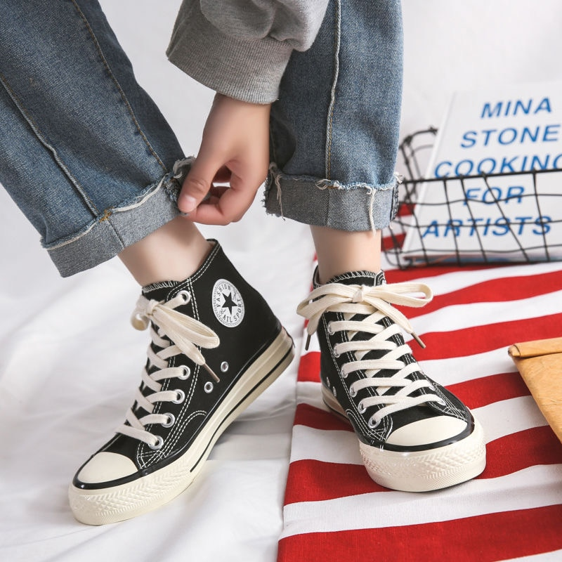7 Colors Women Basic Canvas Sneakers Soft Patchwork Shoes Brand Student Thick Heels Sneakers Designe