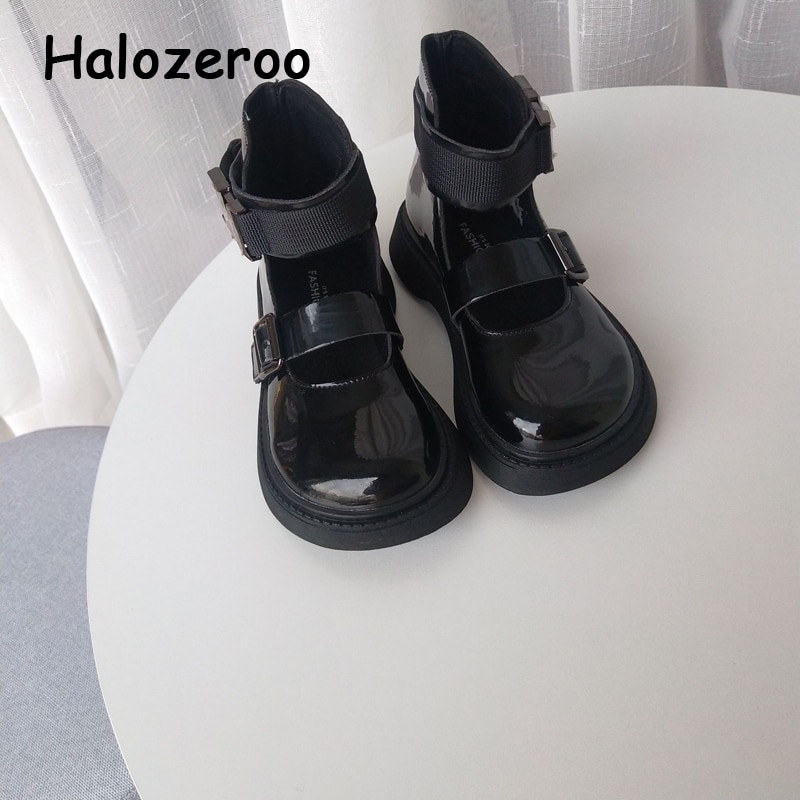 جديد الخريف الاطفال الأميرة أحذية طفل الفتيات العلامة التجارية أحذية منصة الأطفال حذاء قصير أسود فستان مسطح أحذية أنيقة ماري جين