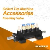 five way car tire machine valve foot pedal cylinder controlling valve switch tyre changer valve suspension hanging valve part