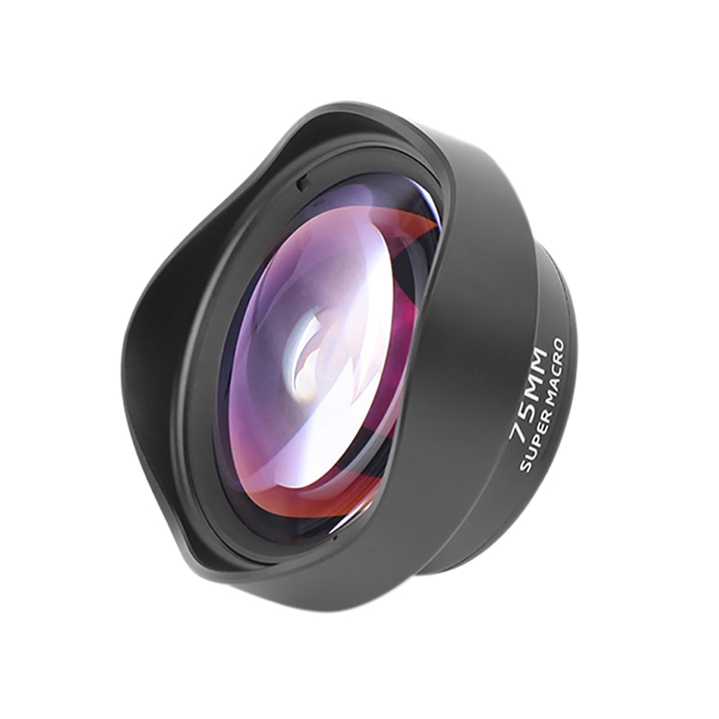 Ulanzi Mobile Camera Lens 10X Macro Lens Phone 75MM Clip on Lenses for iPhone Xs Max XR X 8 7 Huawei