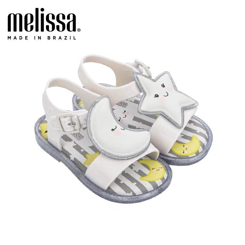 Mini Melissa enfants dessin animé sandales 2020 nouvelles étoiles lune filles chaussures sandales enfants plage sandales Melissa enfants chaussures antidérapantes