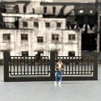 2pcs railing model train railway building fence wall sand table guardrail