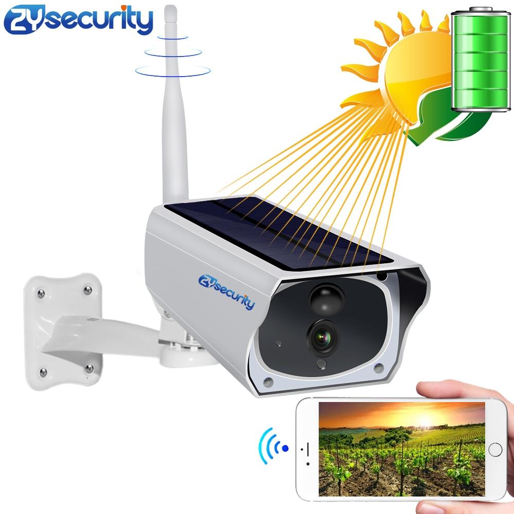 Promo HD 1080P Solar WiFi Camera Battery IP Camera Outdoor IR Bulllet Night Vision Audio PIR Human Detect Alarm Card CCTV Camera Sony
