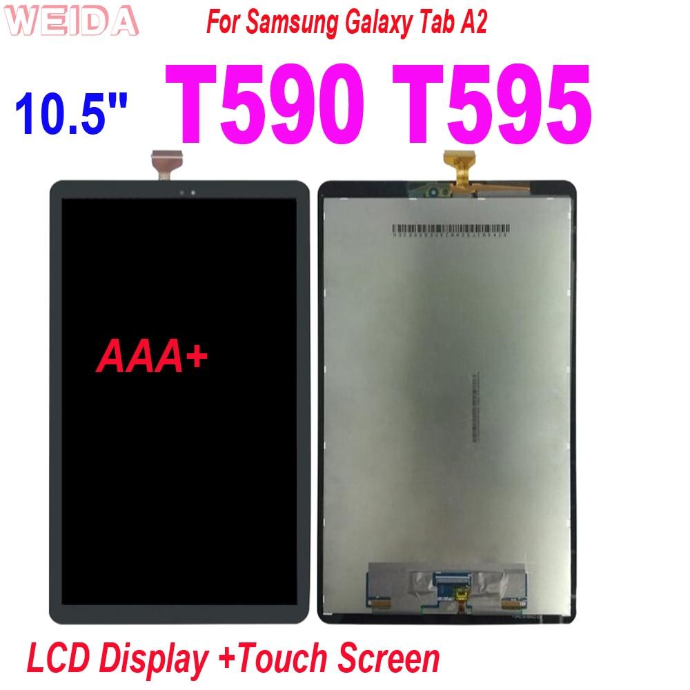 Painel da Tela de Toque Lcd para Samsung Galaxy T595 Sm-t595 Sm-t590 Display Lcd Digitador Assembléia Completa Substituição 10.5 Tab a2 T590
