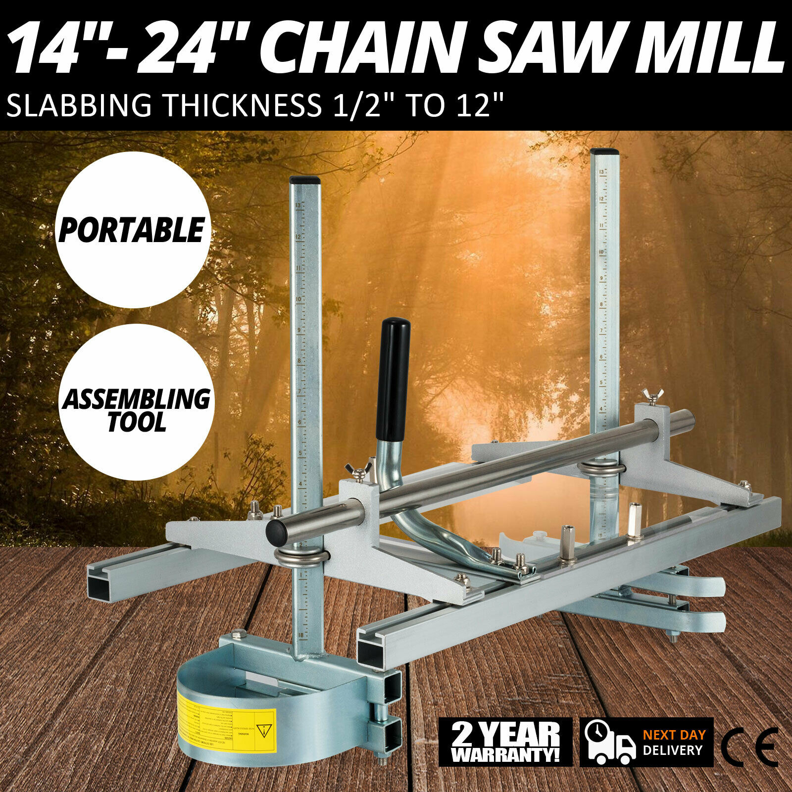 Portable Chain Saw Mill Planking Milling From 14\