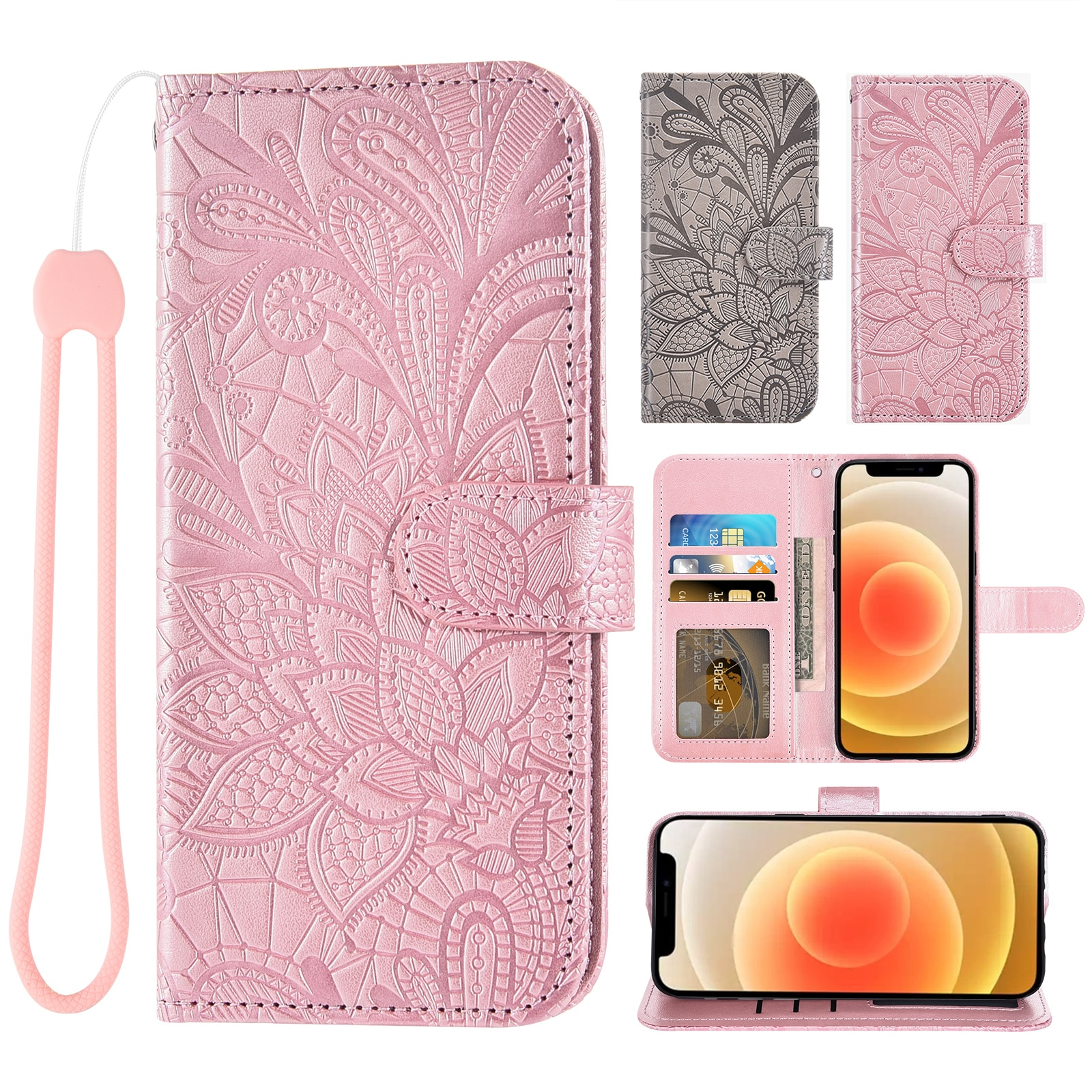 A sincere gift Luxury Flip Cover Leather Wallet Phone Case For UMIDIGI S5 Pro Credit card slot wrist