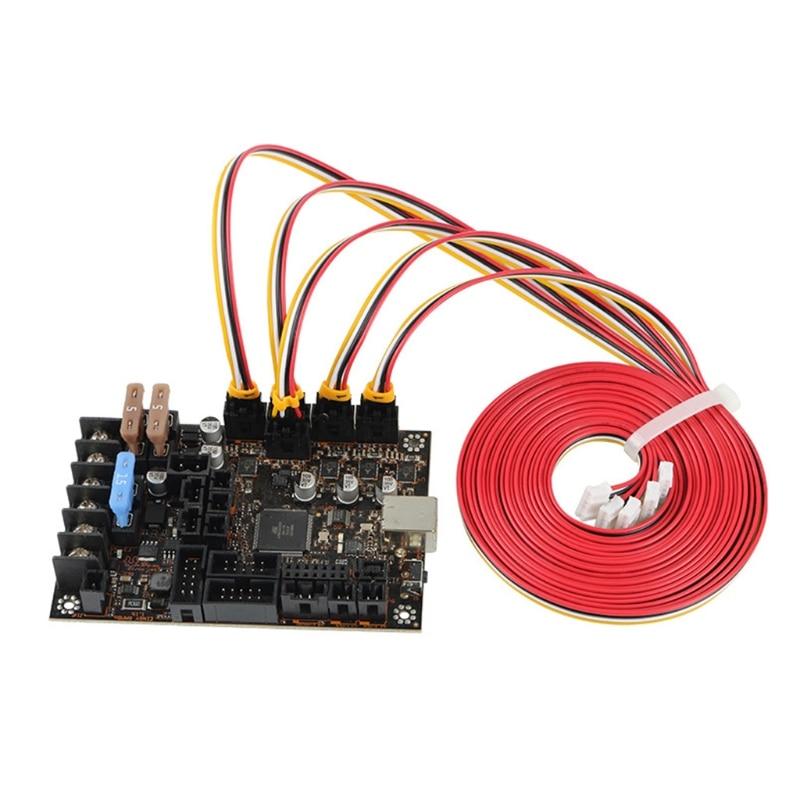 5 pces 1m nama17 42 cabos de motor deslizante mini-rambo einsy para prusa i3 mk2 mk2s 1xcb