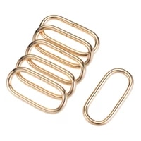 uxcell metal oval ring buckles 50x19mm for bags belts diy gold tone 6pcs
