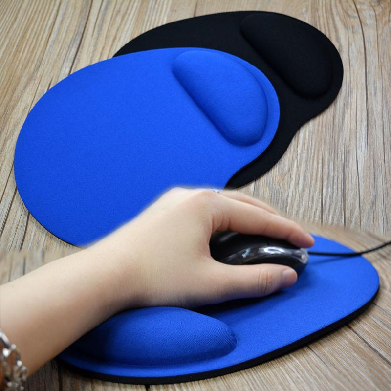 New Small Feet Shape Mouse Pad Support Wrist Comfort Mat Soild Color Computer Games Mousepad Creative EVA Soft Mouse Pad 1 Pc environmental friendly eva bracers mouse pad computer games creative solid color new type mouse pad