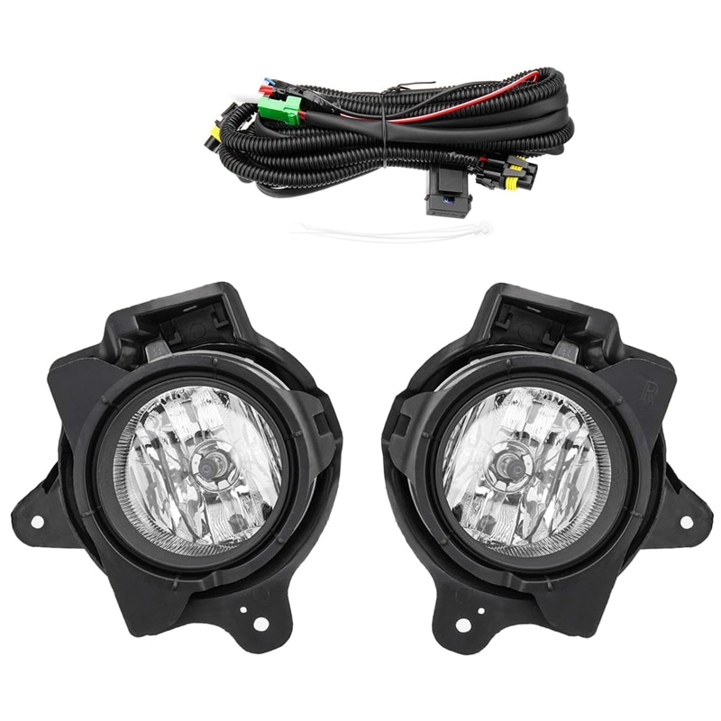 Car Fog Light Lamp Kit with Harness Relay Bulb Switch Styling for Toyota Hilux VIGO MK7 2012 2013 2014 2015 2016