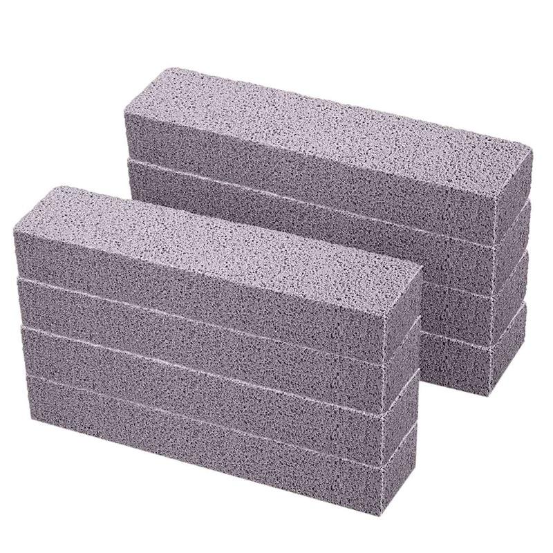 8 piezas de piedras pómez para limpieza de piedra pómez estropajo limpiador en Barra de piedra pómez gris para la eliminación de tazón de baño anillo baño hogar K