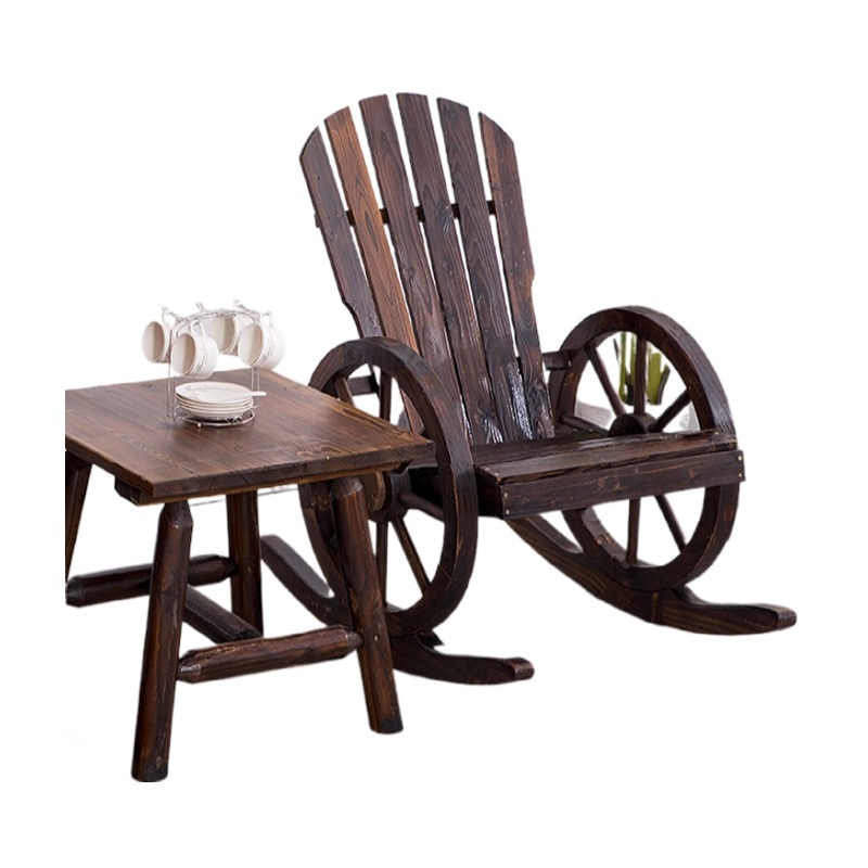 Деревянное кресло-качалка в стиле Адирондак, садовая мебель, кресло-качалка, деревянная скамейка для патио, уличная мебель