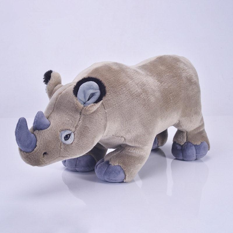 [Funny] 50 centímetros Simulação Lifelike rinoceronte rinoceronte Brinquedos De Pelúcia Macia bonito Bichos de pelúcia boneca de Brinquedo de Aniversário Presentes de Natal para As Crianças